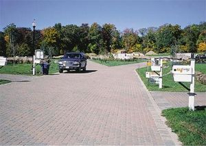 Example of substantial use of UNI Eco-Stone® permeable pavers in the Jordan Cover Watershed.