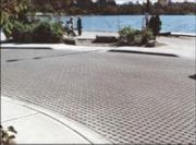 Example of paving typical areas with permeable pavers.