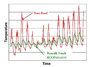 Temperature data from the Fencing Academy of Philadelphia green roof.