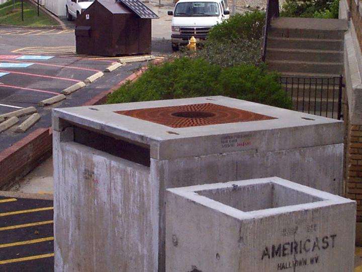 Image of concrete box prior to installation